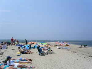 Pocomo Point is a great watersports beach and a great family beach