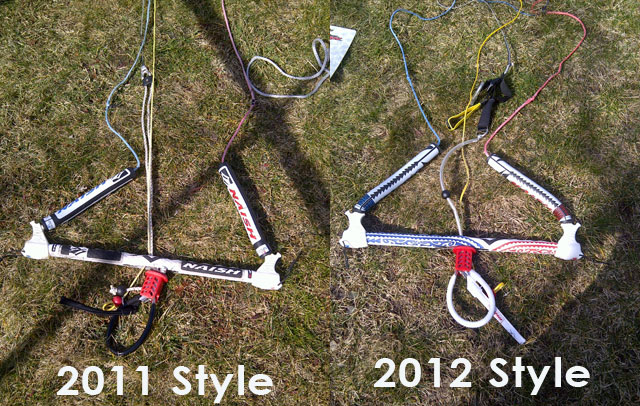 2011 vs 2012 Naish 5 Line Bars